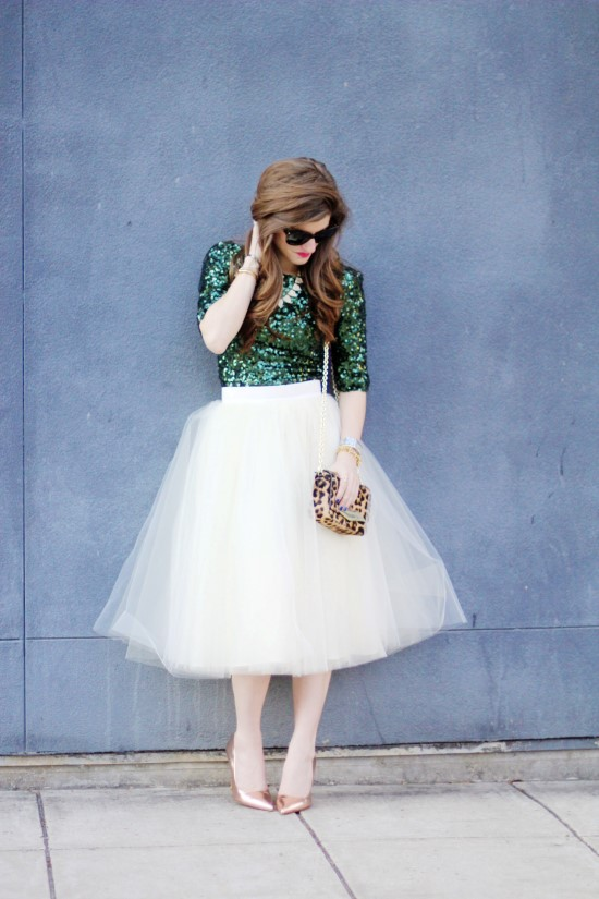 Emerald Sequins and Tulle 1 (Custom)