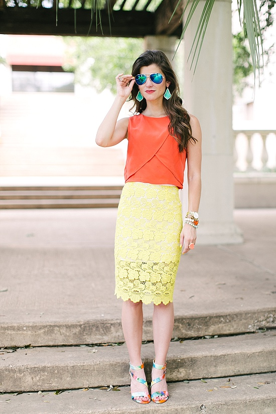 Crop Top + Pencil Skirt