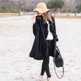 Black Ruffle Wrap