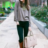 Neutrals + Statement Necklace