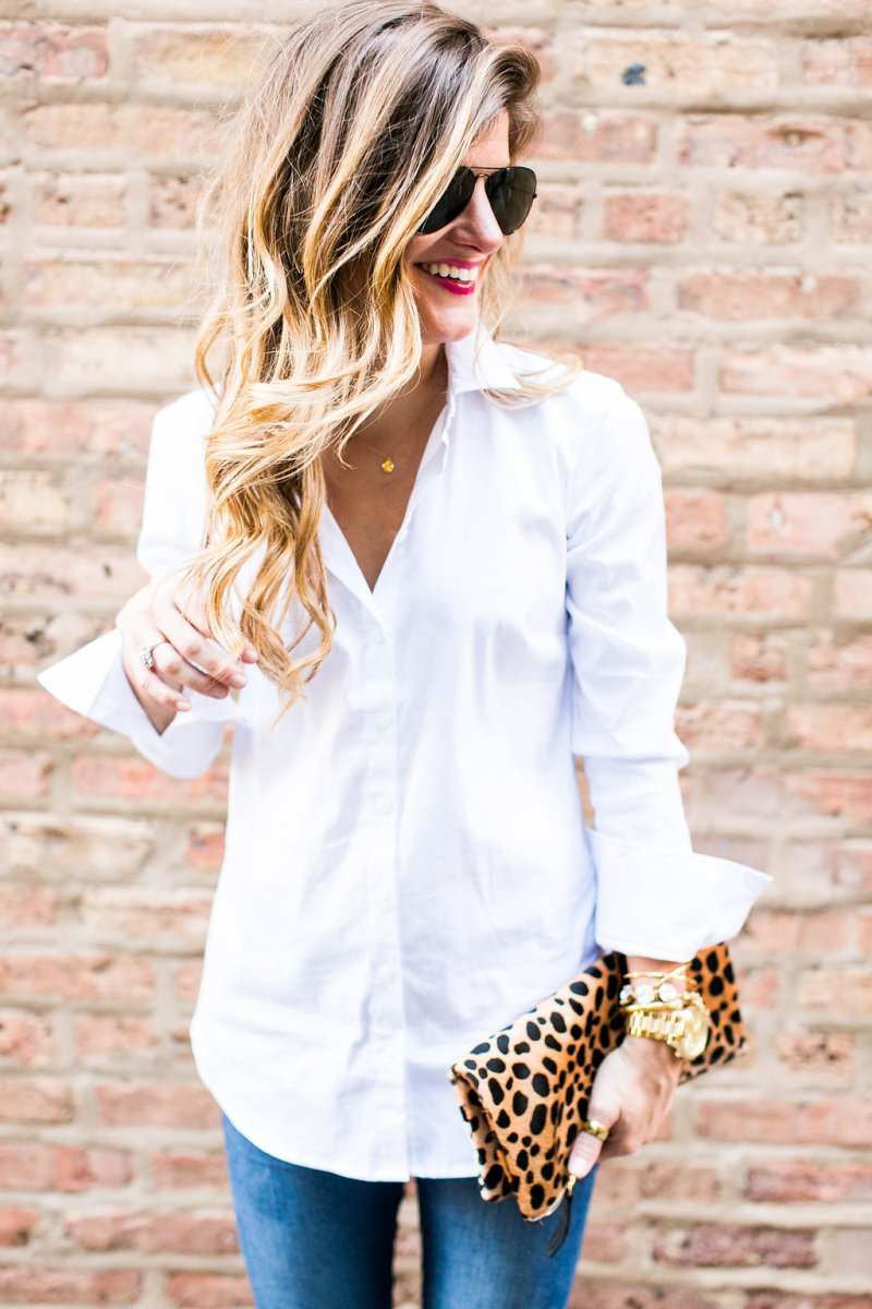 #BTDFallBASICS: Button Up White Blouse