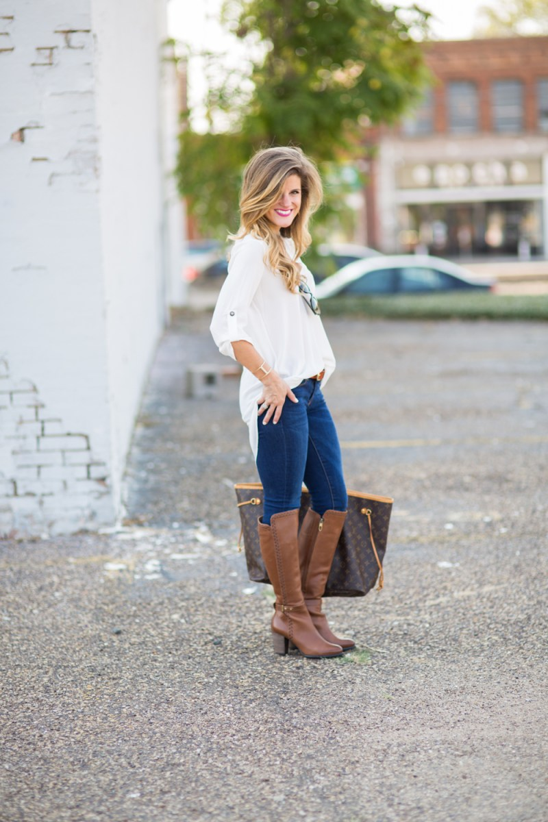 Simple White Tunic + Catch All Tote