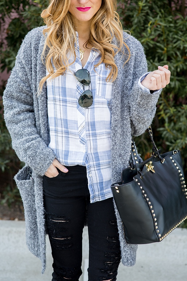 Long Gray Cardigan Outfit