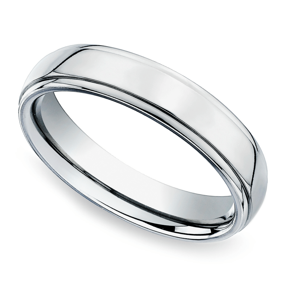 beveled mens band platinum 5 mm flexible wedding ring