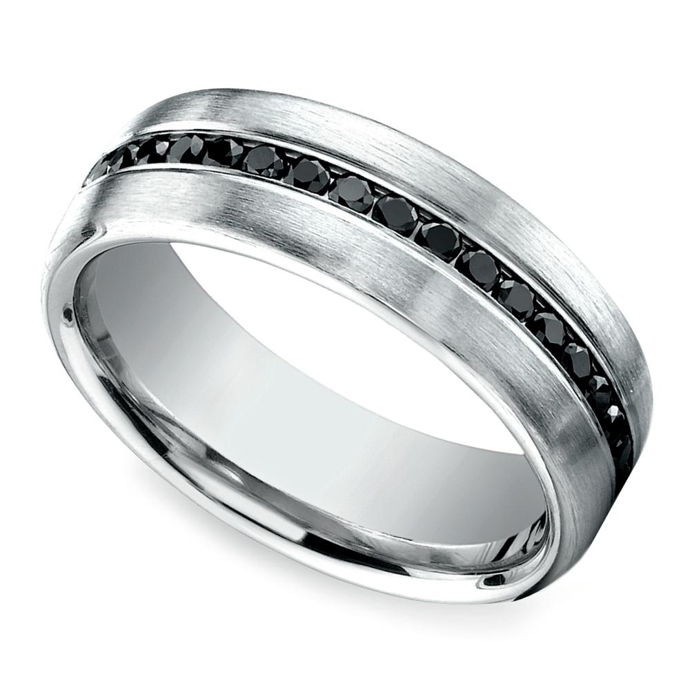 channel black diamond mens band platinum platinum diamond wedding bands