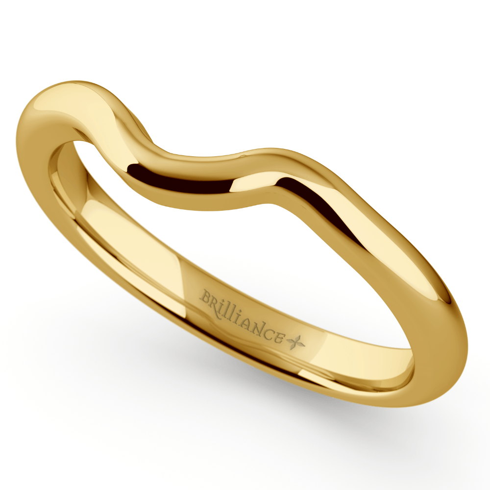 swirl style wedding ring yellow gold yellow gold wedding rings