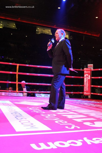 boxing ring announcer
