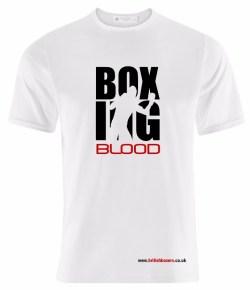 BOXING BLOOD T SHIRT WHT