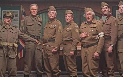 The cast for the Dads army remake line up for inspection