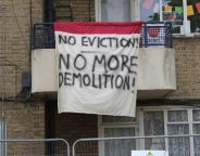 Flat 82, Evleden House, on Loughborough Park Estate has been occupied once more