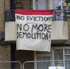 Flat 82, Evleden House, on Loughborough Park Estate has been occupied once more