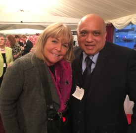 Ken Floyde (pictured to the right) with actress and Loose Women presenter Linda Robson (Photo: Mike Woof)