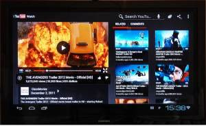 YouTube on Pocket TV