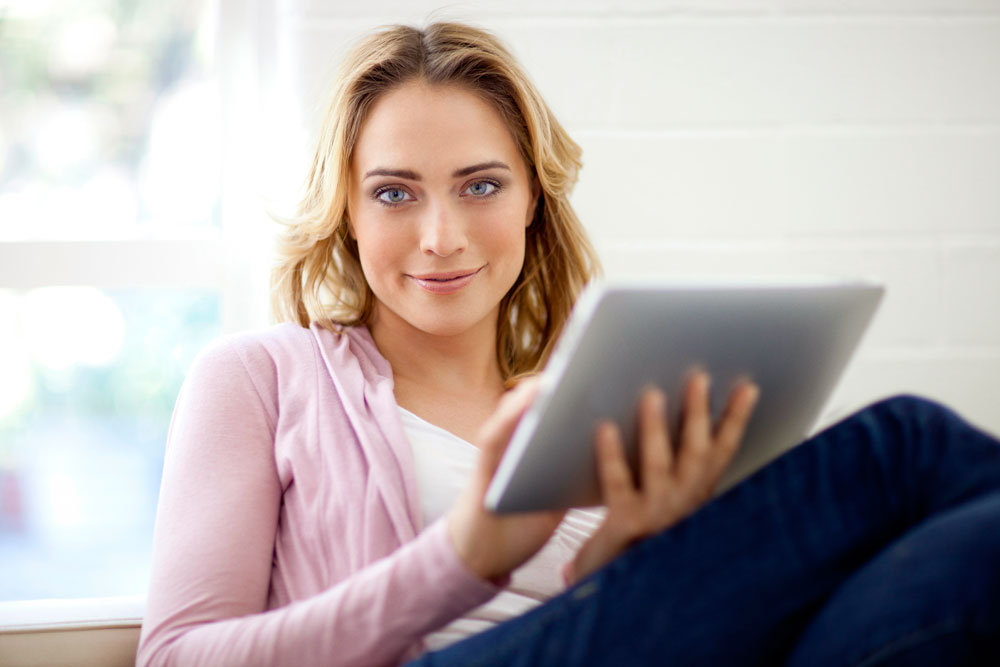 Girl with tablet (PwC)