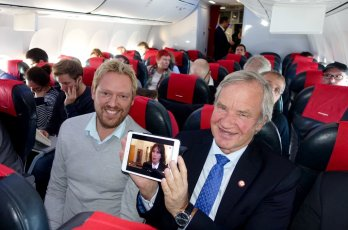 Norwegian on board TV