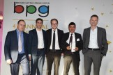 Winners of the Innovation Award Vice News with BPG chair Gideon Spanier (Left)