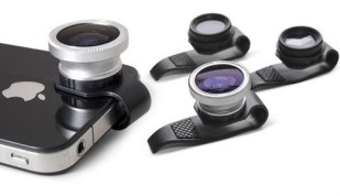 Clip-on iPhone Lenses