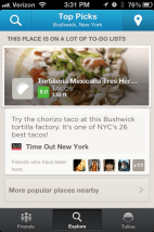 Foursquare Explore Rating