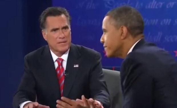 Mitt Romney and Barack Obama animated GIF