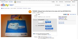 Twinkies 10 pack plus free Wii U for $5k deal going on eBay