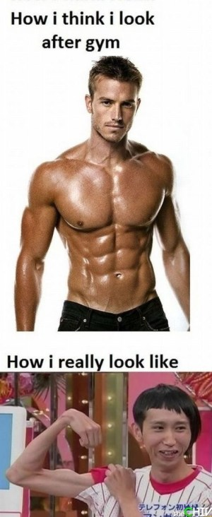before and after the gym