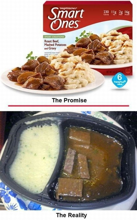 microwave meals expectations vs reality