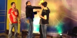 TV host proves magic doesn't exist by accidentally setting magician on fire