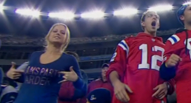 Female Patriots fan