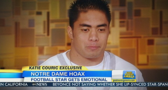 Manti Te'o on Katie Couric