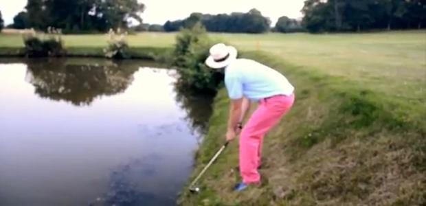 drunk golf shot