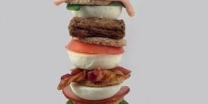 Seven layer breakfast sandwich is an impressive feat