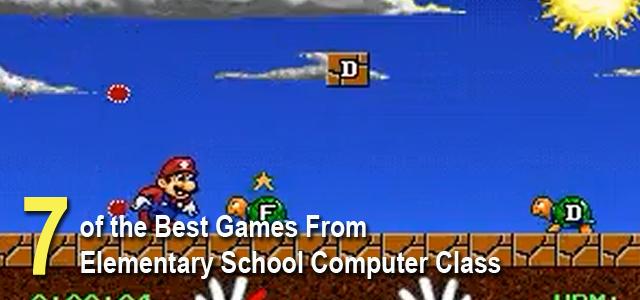 best games from elementary school computer class