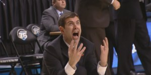 Brad Stevens completely loses it on the refs