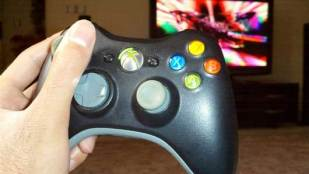 playing xbox