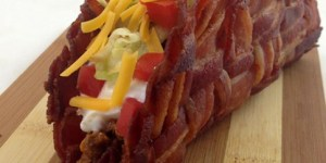 Taco shell made out of bacon
