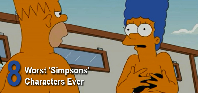 Worst Simpsons Characters List