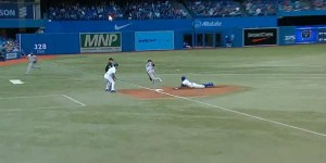 Rajai Davis hit a groundball to the pitcher and then Benny Hill showed up