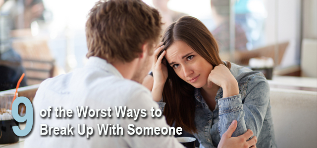 worst ways to break up list