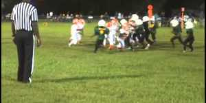 6-year-old girl dominates Pee Wee football league