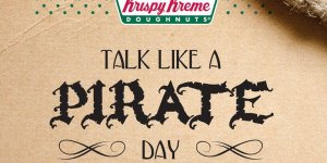 Free Krispy Kreme doughnut for dressing like a pirate