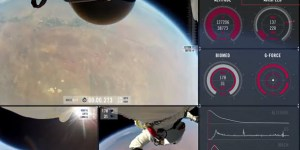 This is what it looks like to free fall from space