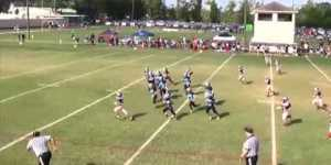 Worst onside kick ever results in easy touchdown for 9-year-old