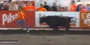 Woman gets sent flying, literally, by bull during rodeo in Costa Rica