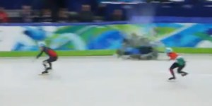 This speed skating 'Mario Kart' mashup is the best thing to come out of the Sochi Olympics