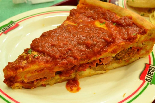 Sbarro stuffed pizza