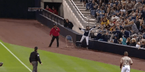 San Diego Padres Ballgirl Makes Terrific Catch