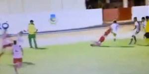 Soccer match features Liu Kang bicycle kick