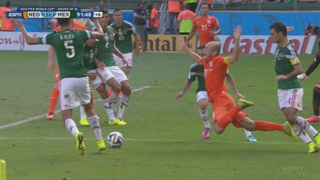 Arjen Robben flop