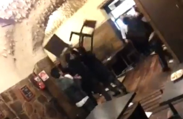Greek restaurant fight