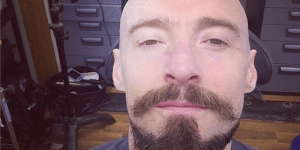 Bask in the glory of Hugh Jackman's facial art for it is glorious